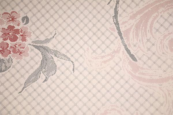 全涤玫瑰花针织空气层