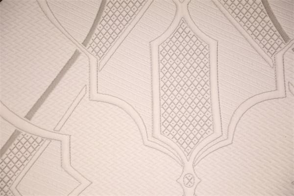 灰白间隔条纹针织空气层