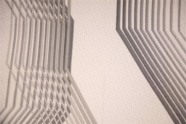 重叠线的双面针织空气层